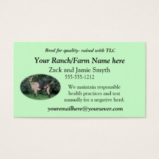 Goat Business Card-add your own picture & words Business Card