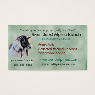 Goat Business Card- customize-add your own photo Business Card