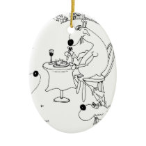 Goat Cartoon 6928 Ceramic Ornament