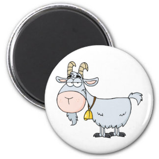Goat Cartoon Character 2 Inch Round Magnet