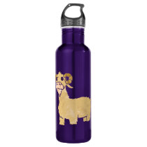 Goat cartoon. stainless steel water bottle