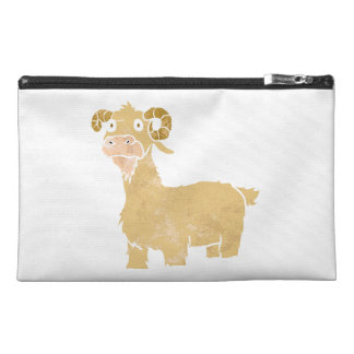 Goat cartoon. travel accessories bag