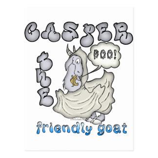 Goat Casper Halloween Postcard