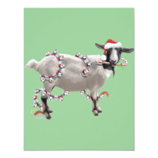 Goat Christmas Announcements