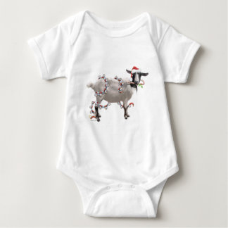 Goat Christmas Baby Bodysuit