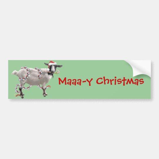 Goat Christmas Bumper Sticker