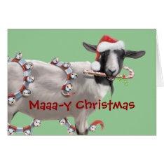 Goat Christmas Card at Zazzle