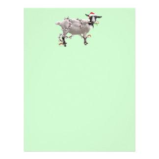 Goat Christmas Custom Letterhead