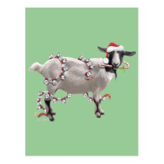 Goat Christmas Postcard
