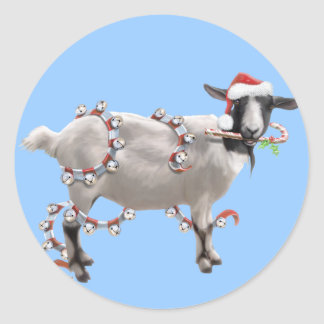 Goat Christmas Sticker