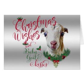 GOAT | Christmas Wishes Baby Goat Kisses LaMancha