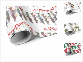 GOAT Christmas Wrapping Paper