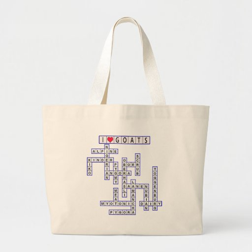 GOAT CROSSWORD PUZZLE TOTE BAGS