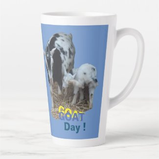 GOAT Day Cust. BG Color Latte Mug