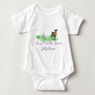 Goat Don't Eat the Brown Jelly Beans Baby Bodysuit