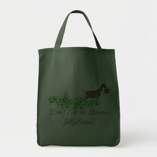 Goat Don't Eat the Brown Jelly Beans Grocery Tote Bag