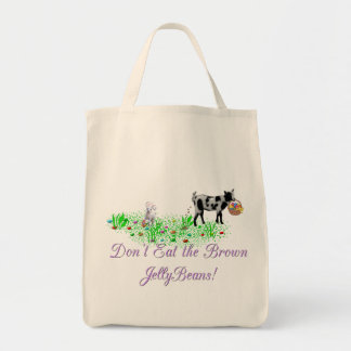 Goat Don't Eat the Brown Jelly Beans Canvas Bags