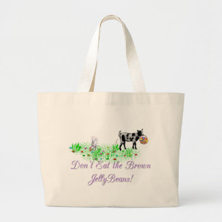 Goat Don't Eat the Brown Jelly Beans Tote Bags