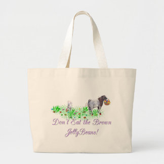 Goat Don't Eat the Brown Jelly Beans Large Tote Bag