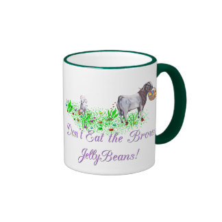Goat Don't Eat the Brown Jelly Beans Ringer Mug