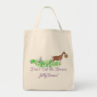 Goat Don't Eat the Brown Jelly Beans Tote Bag