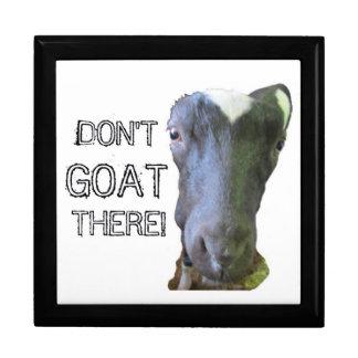 "Goat ""DON'T GOAT THERE!"" Keepsake Box"