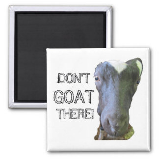 "Goat ""DON'T GOAT THERE!"" Magnet"