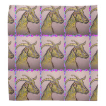 goat drawing bandana