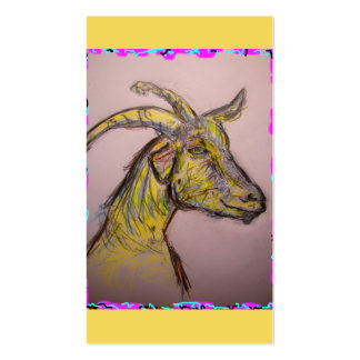 goat drawing business card