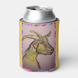 goat drawing can cooler