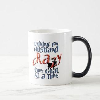 GOAT-Driving my Husband Crazy One Goat at a Time Magic Mug
