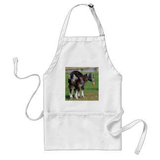 Goat eating carrot adult apron