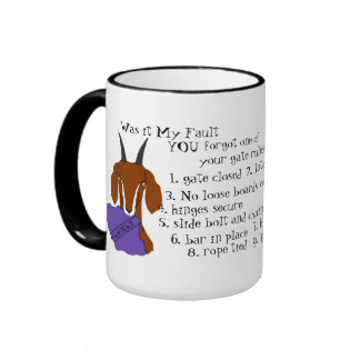 Goat, escape artist, nubian, boer ringer coffee mug