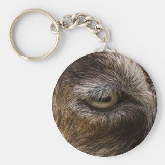 goat eye keychain
