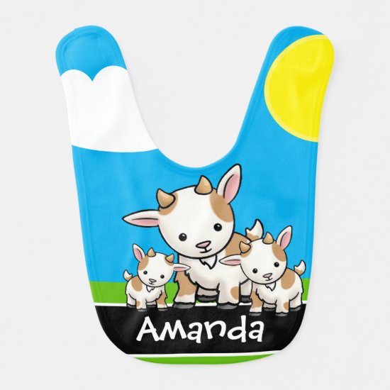 Goat Family | Cute Baby Bib