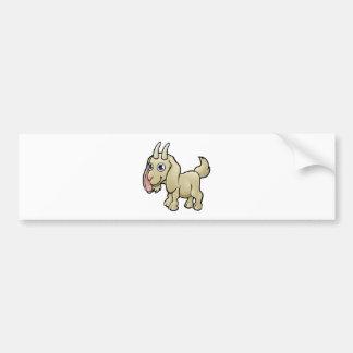 Goat Farm Animals Cartoon Character Bumper Sticker
