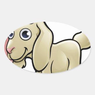 Goat Farm Animals Cartoon Character Oval Sticker