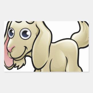 Goat Farm Animals Cartoon Character Rectangular Sticker