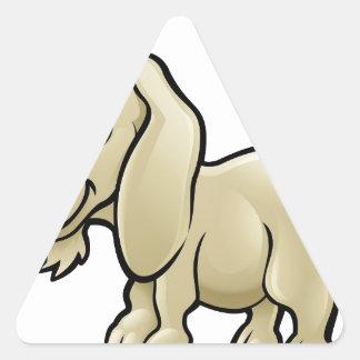 Goat Farm Animals Cartoon Character Triangle Sticker