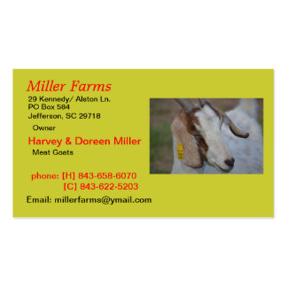 Goat Farm Double-Sided Standard Business Cards (Pack Of 100)