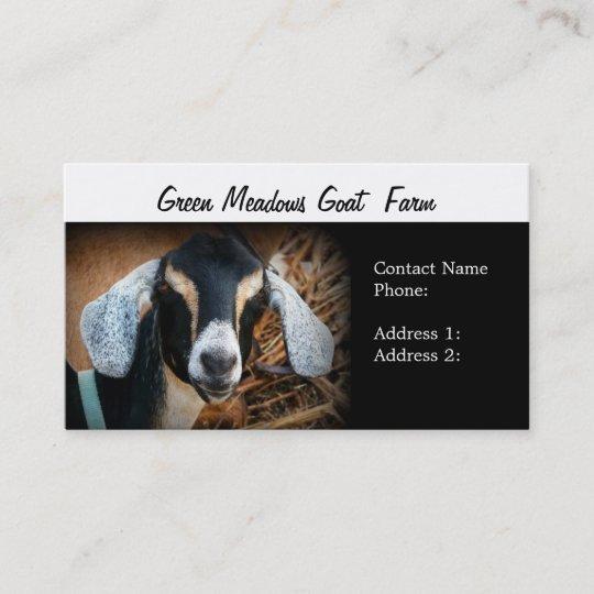 Goat farm business cards zazzle goat farm business cards colourmoves