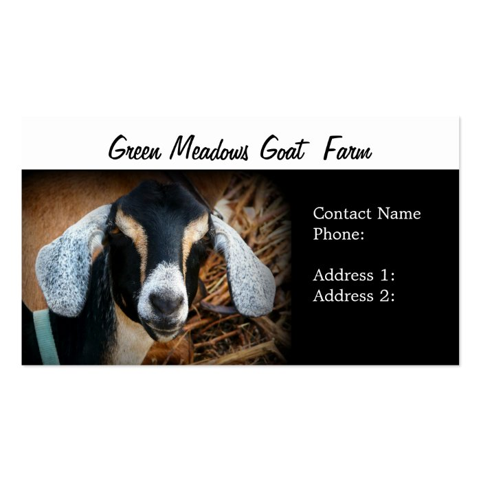 Goat Farm  Business Cards