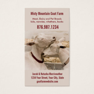 Goat Farm Dairy or Breeder Business Card