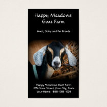 Goat Farming or Breeding Business Card