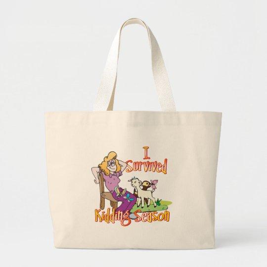 GOAT | Funny Kidding Season by GetYerGoat Large Tote Bag