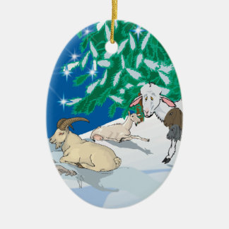 Goat - Gift of the Old One Christmas Ornaments