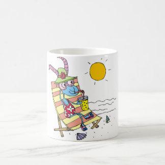 Goat Girl on Beach Classic White Coffee Mug