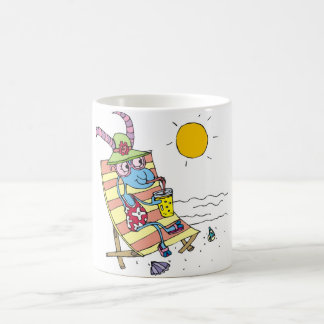 Goat Girl on Beach Coffee Mug
