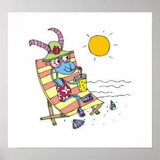 Goat Girl on Beach Print