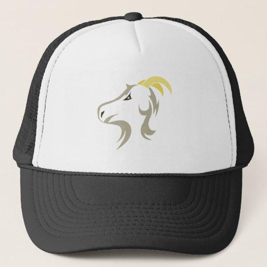 Goat goat trucker hat